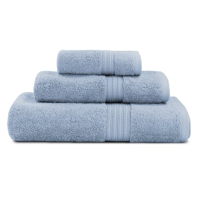 Bliss Egyptian Quality Cotton Luxury 3 Piece Towel Set Color: Smoke Blue