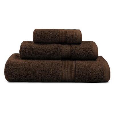 Bliss Egyptian Quality Cotton Luxury 3 Piece Towel Set Color: Chocolate