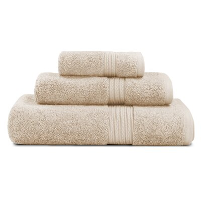 Bliss Egyptian Quality Cotton Luxury 3 Piece Towel Set Color: Linen