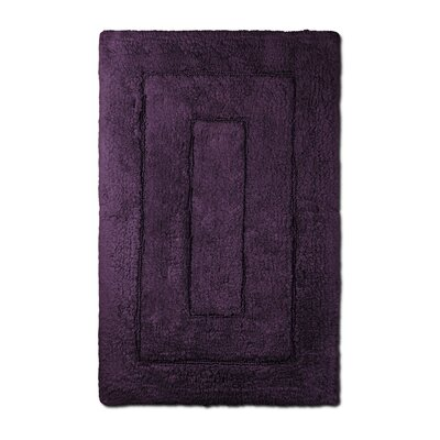 Bliss Egyptian Quality Cotton Luxury Bath Mat Color: Plum
