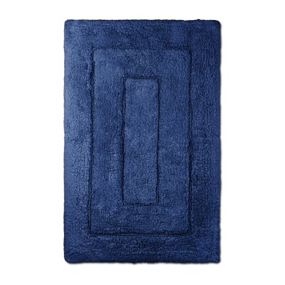 Bliss Egyptian Quality Cotton Luxury Bath Mat Color: Navy