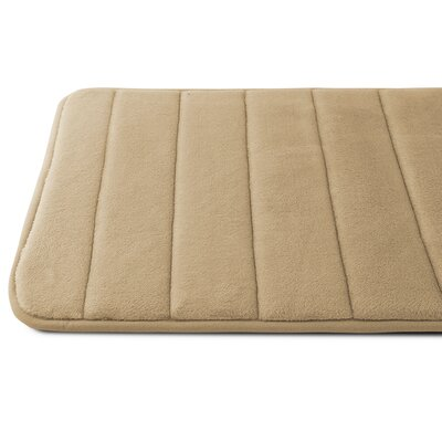 Luxury Quick Dry Memory Foam Bath Mat Color: Beige