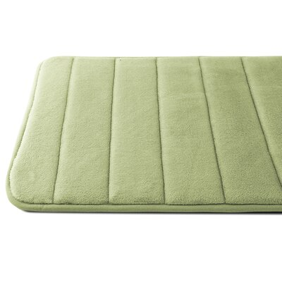 Luxury Quick Dry Memory Foam Bath Mat Color: Sage