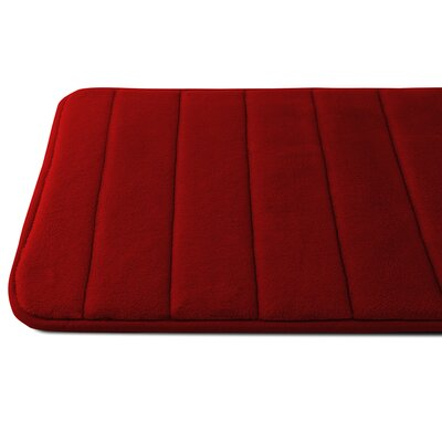 Luxury Quick Dry Memory Foam Bath Mat Color: Wine