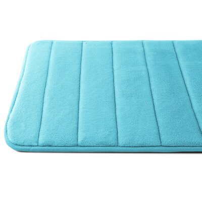 Luxury Quick Dry Memory Foam Bath Mat Color: Sky