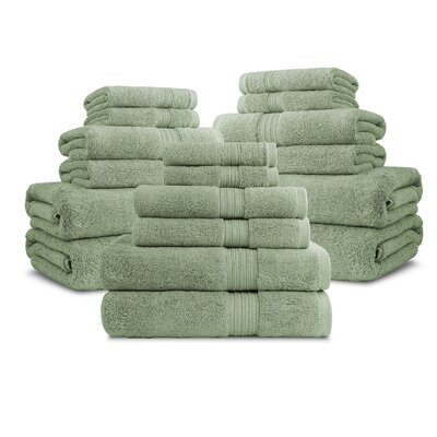 Bliss Egyptian Quality Cotton Luxury 18 Piece Towel Set Color: Marigold