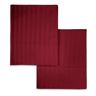 Valentino Stripe Pillowcase Size: Standard, Color: Wine