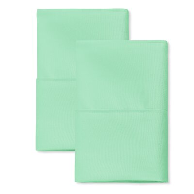 SanT Agnello Hotel Pillowcase Color: Sage, Size: King