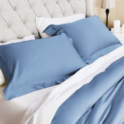 Valentino 3 Piece Duvet Set Size: Full/Queen, Color: Blue