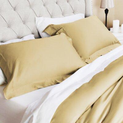 Celina Hotel 3 Piece Duvet Set Color: Gold, Size: King/California King