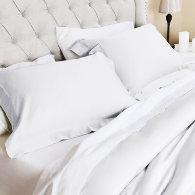 Valentino 3 Piece Duvet Set Size: King/California King, Color: White