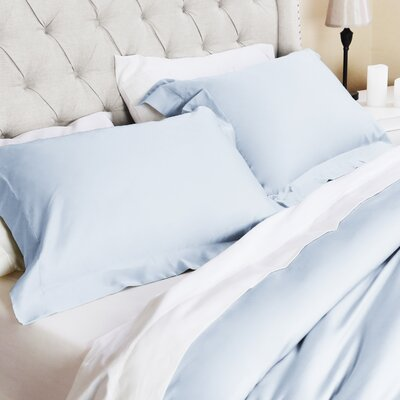 Valentino 3 Piece Duvet Set Size: King/California King, Color: Sky