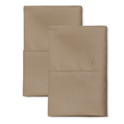 SanT Agnello Hotel Pillowcase Size: Standard, Color: Taupe