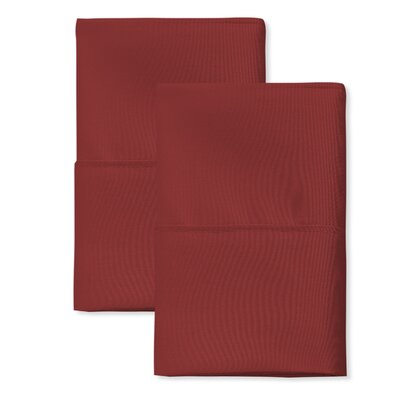 SanT Agnello Hotel Pillowcase Color: Burgundy, Size: King