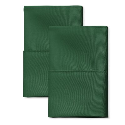 SanT Agnello Hotel Pillowcase Color: Hunter Green, Size: King
