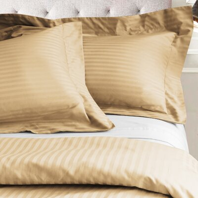 Valentino 3 Piece Duvet Set Color: Gold, Size: King/California King