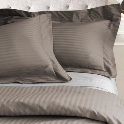 Valentino 3 Piece Duvet Set Color: Taupe, Size: King/California King