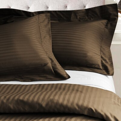 Valentino 3 Piece Duvet Set Size: Full/Queen, Color: Chocolate