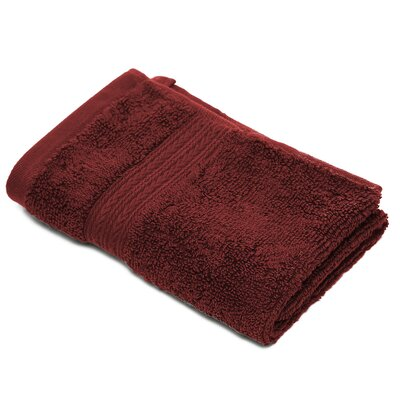 Bliss Egyptian Quality Cotton Luxury Wash Cloth Color: Garnet Red