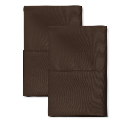 SanT Agnello Hotel Pillowcase Size: King, Color: Mocha