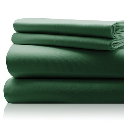 SanT Agnello Hotel 4 Piece Egyptian Quality Cotton Sheet Set Size: Full, Color: Hunter Green