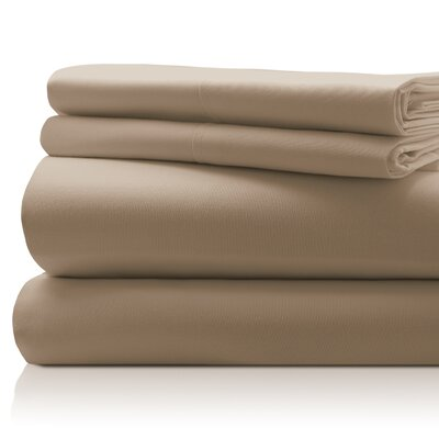 SanT Agnello Hotel 4 Piece Egyptian Quality Cotton Sheet Set Size: Full, Color: Taupe