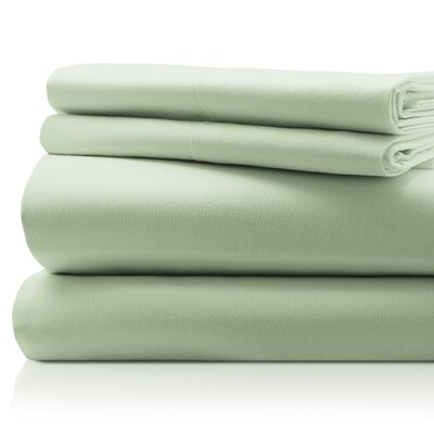 SanT Agnello Hotel 4 Piece Egyptian Quality Cotton Sheet Set Size: Full, Color: Sage