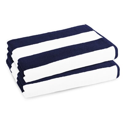 Classic Resort Beach Towel Color: Navy
