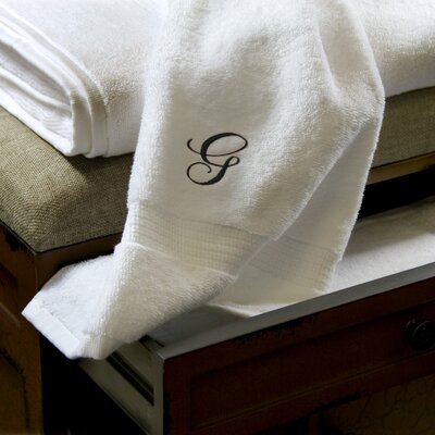 Luxor Linens Giovanni 6 Piece Towel Set - Monogram Letter: A, Monogram Color: Gold at Sears.com