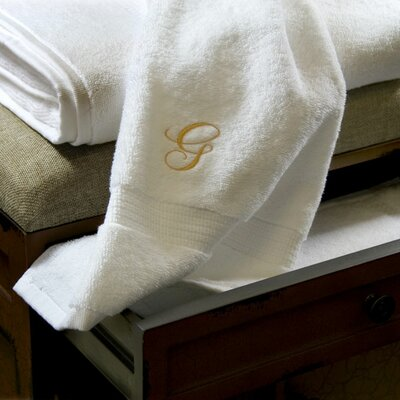 Luxor Linens Giovanni 3 Piece Towel Set - Monogram Color: Gold, Monogram Letter: G at Sears.com