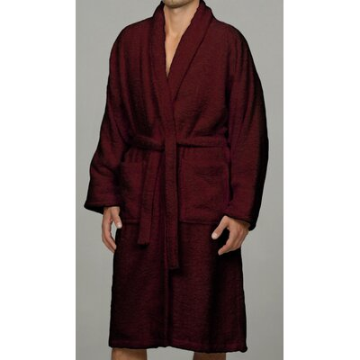 Salerno 100% Egyptian Quality Cotton Luxury Bath Robe Size: Large, Color: Burgundy