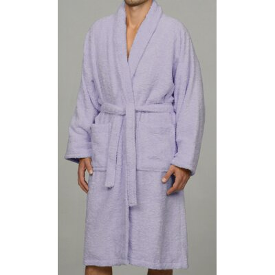 Salerno 100% Egyptian Quality Cotton Luxury Bath Robe Size: Large, Color: Lavender