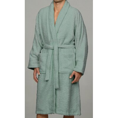 Salerno 100% Egyptian Quality Cotton Luxury Bath Robe Size: Large, Color: Sage