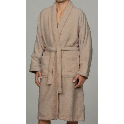 Salerno 100% Egyptian Quality Cotton Luxury Bath Robe Size: Large, Color: Taupe