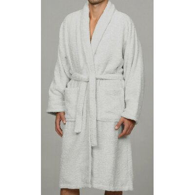 Salerno 100% Egyptian Quality Cotton Luxury Bath Robe Size: Large, Color: White