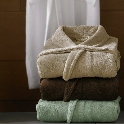 Luxor Linens Anini Bamboo and Cotton Spa Bath Robe - Color: Coffee at Sears.com