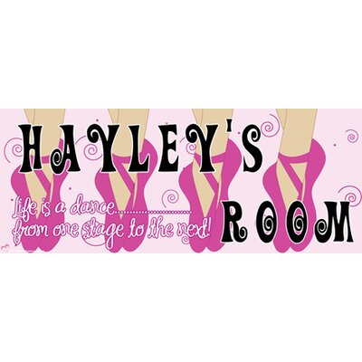 Ballerina Girl Name Wall Decal Skin Shade: Light, Background Color: Purple