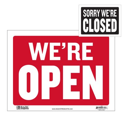 Open Sign with Closed Sign on Back