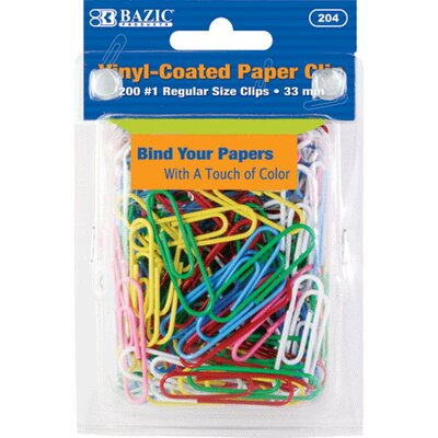No.1 Regular (33mm) Paper Clip Set Quantity: Case of 72