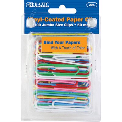 Jumbo (50mm) Paper Clips Set Quantity: Case of 24