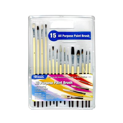 Assorted Size Paint Brushes Quantity: Case of 12 3409-12