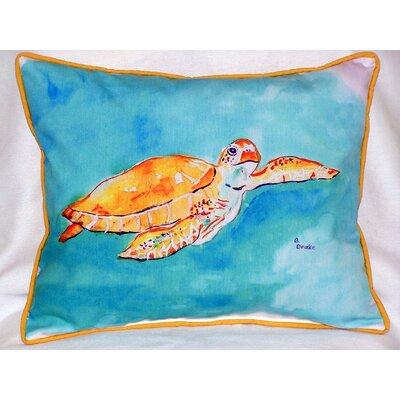 Sea Turtle Outdoor Lumbar Pillow