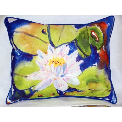 Lily Pad Outdoor Lumbar Pillow