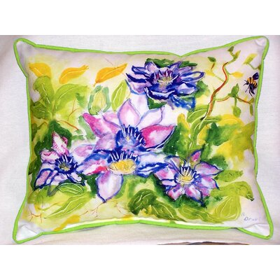 Clematis Indoor/Outdoor Lumbar Pillow
