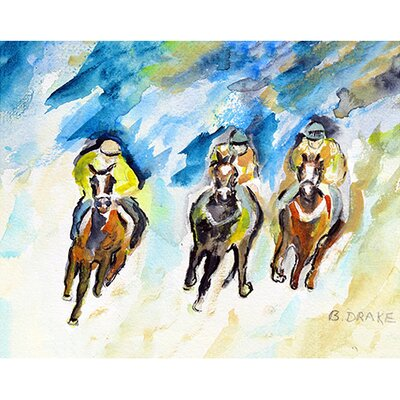 Three Racing Doormat Rug Size: 16 x 22