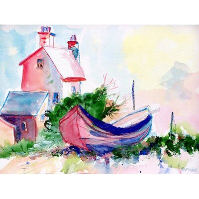 Boat and House Doormat Rug Size: 26 x 42