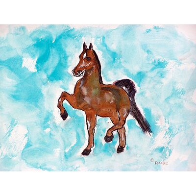 Dancing Horse Doormat Mat Size: 16 x 22
