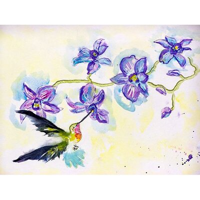 Hummingbird and Clematis Doormat Rug Size: 2'6