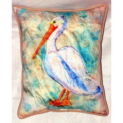 Pelican on Rice Indoor/Outdoor Lumbar Pillow