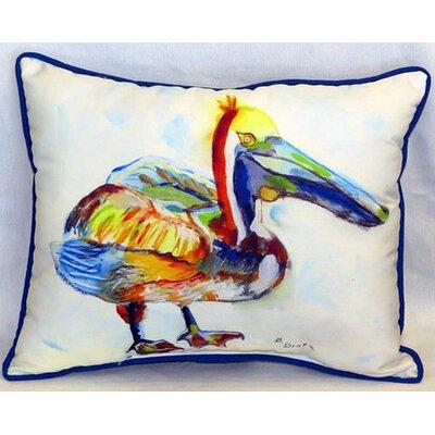 Heathcliff Pelican Indoor/Outdoor Lumbar Pillow Size: Large